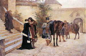 Oproštaj Petra i Katarine Zrinski u Čakovcu 1670.