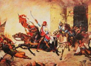 Oton Iveković, Juriš Nikole Šubića Zrinskog iz Sigeta 1566.