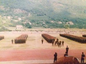Postrojavanje kod Drvara 1995. godine