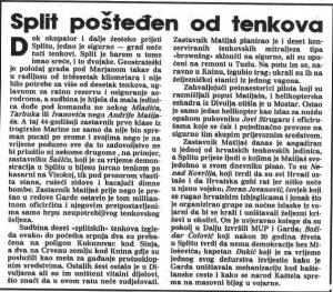 """Izvor: Nedjeljna Dalmacija, 29.9.1991. Andrija Matijaš-Pauk postao je jedan od heroja Domovinskog rata. Poginuo je 9. listopada 1995. kod Mrkonjić-Grada tijekom Operacije """"Južni potez""""."""