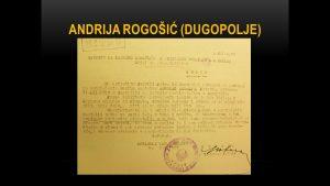 Sudski dokument o Andriji Rogošiću