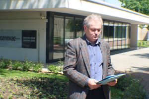 """Stipo Pilić čita izjavu za javnost HDP """"Dr. Rudolf Horvat"""""""