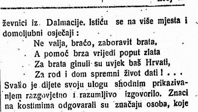 """Godine 1921. hrvatska djeca su recitirala """"Za rod i dom spremni život dati"""""""