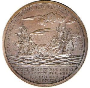 """Američka medalja iz 1814. s natpisom """"Pro patria paratus"""" (Za dom(ovinu) spremni)"""